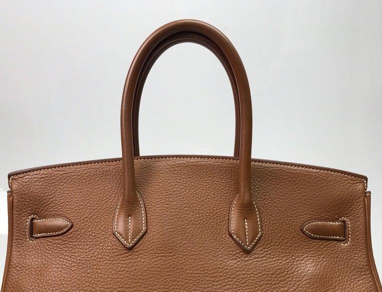 Hermes Gold Birkin PHW 35cm For Sale 4