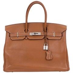 Hermès Gold Clemence 35cm Birkin Bag