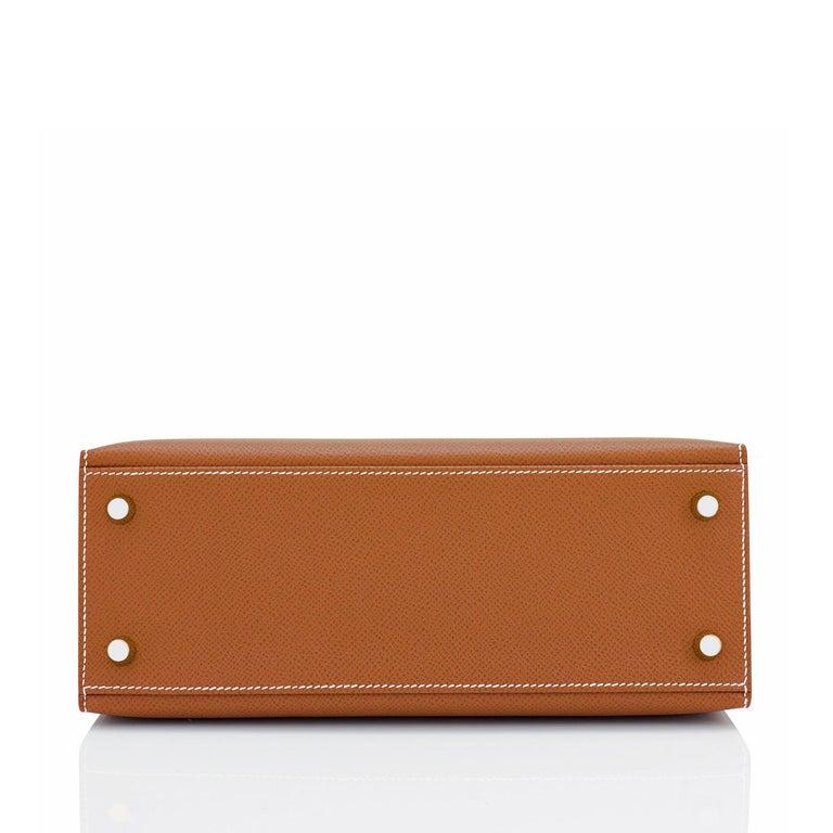 Hermes Gold Kelly 25cm Tan Sellier Shoulder Bag Z Stamp, 2021 RARE For Sale 2