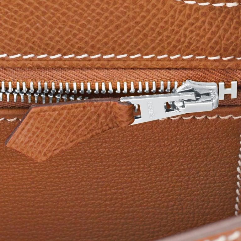 Hermes Gold Kelly 25cm Tan Sellier Shoulder Bag Z Stamp, 2021 RARE For Sale 4