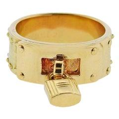 Hermès Gold Kelly Lock Charm Ring