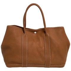 Hermes Gold Negonda Leather Garden Party MM Bag