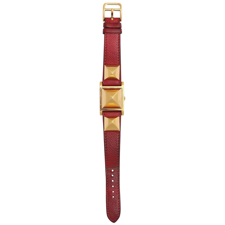 Hermes Gold Plate Medor Watch