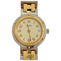 HERMES Gold Plated Clipper Watch