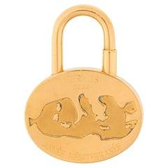 Hermes Gold Plated Padlock Année Mediterrannée 2003