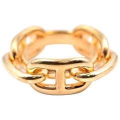 """Hermes Gold-Plated """"Regate"""" Scarf Ring"""