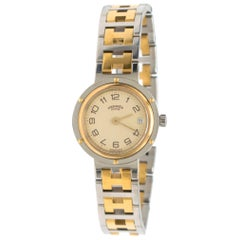 Hermes Gold-Plated Vintage Clipper Watch