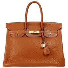 Hermès Gold Togo 35 cm Birkin bag with Gold HW