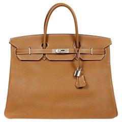 Hermès Gold Togo 40 cm Birkin Bag