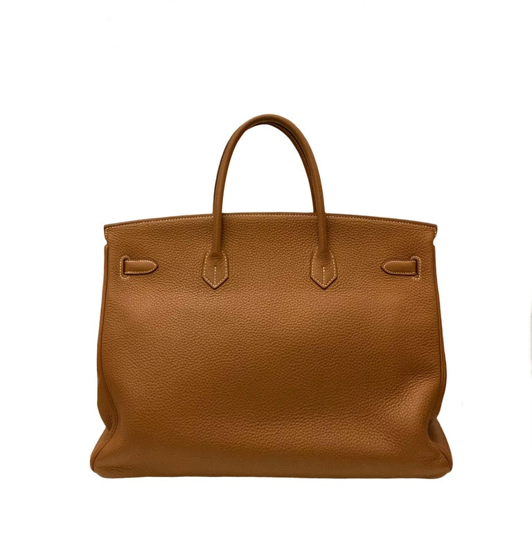 Hermès Gold Togo Leather Birkin 40 Bag 7