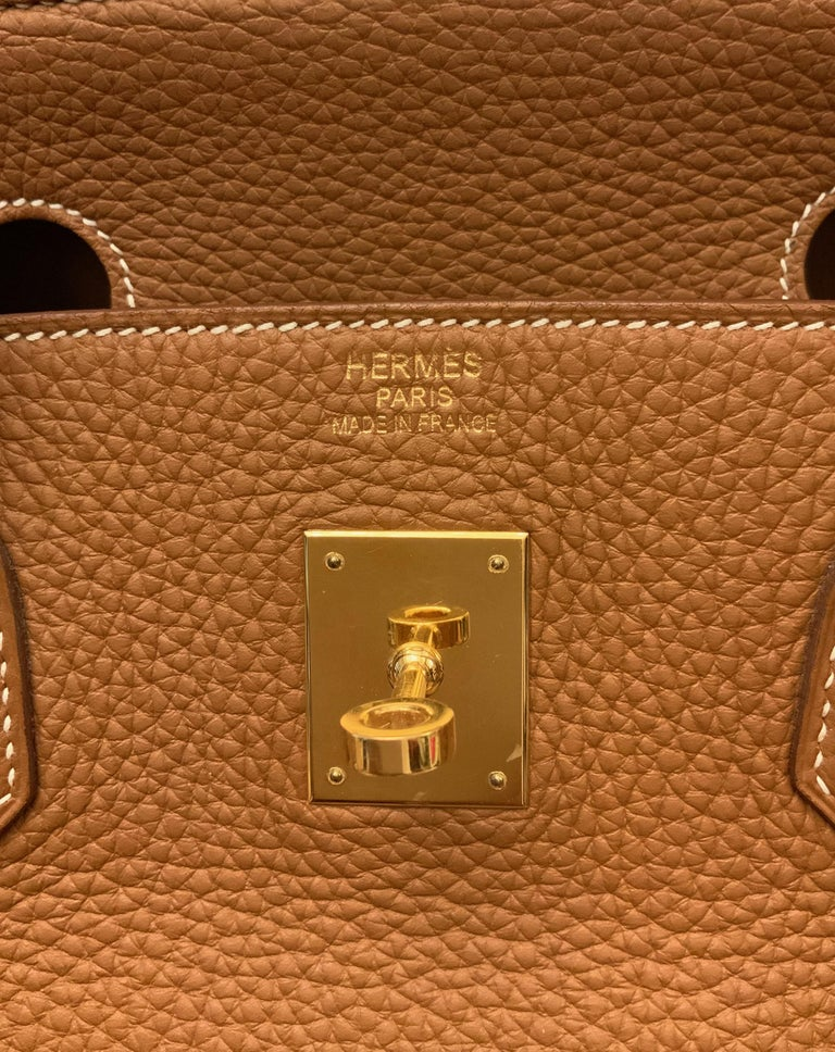 Hermès Gold Togo Leather Birkin 40 Bag 2