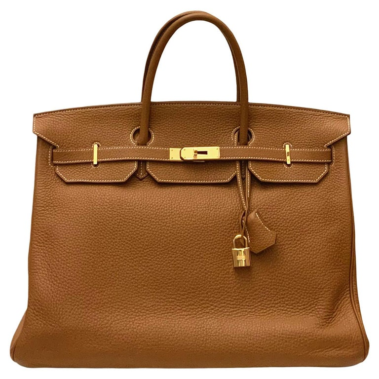 Hermès Gold Togo Leather Birkin 40 Bag