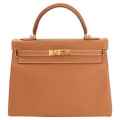 Hermès Gold Togo Retourne Kelly 32 GHW