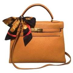 Hermes Golden Yellow 32cm Togo Kelly Bag