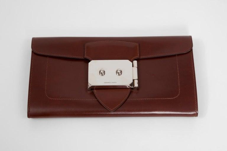 Black Hermes Goodlock Clutch Bag  For Sale