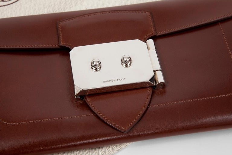 Hermes Goodlock Clutch Bag  In Good Condition For Sale In Geneva, CH