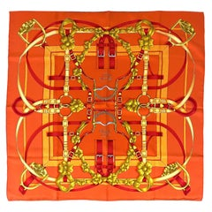 "Hermès ""Grand Manège"" Twill Silk Scarf by Henri d'Origny, circa 1993."
