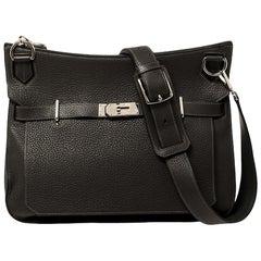Hermes Graphite Taurillon Clemence Leather Palladium Hardware Jypsiere 37 Bag