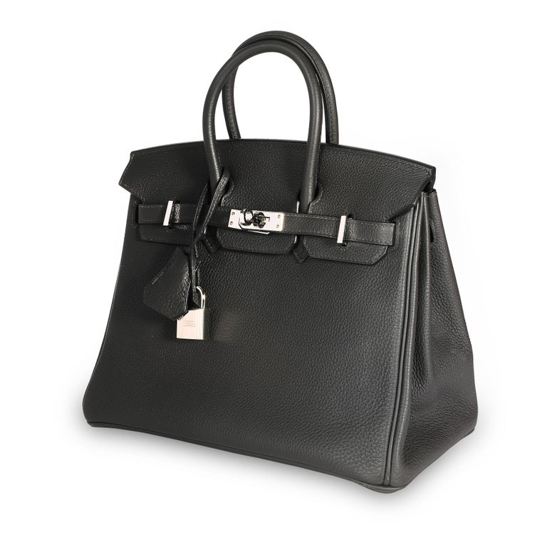 Hermès Graphite Togo Leather Birkin 25 PHW For Sale 2