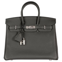 Hermès Graphite Togo Leather Birkin 25 PHW