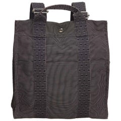 Hermes Gray Herline Canvas Backpack PM