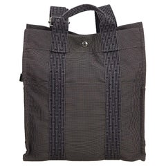 Hermes Gray Herline Canvas Backpack PM