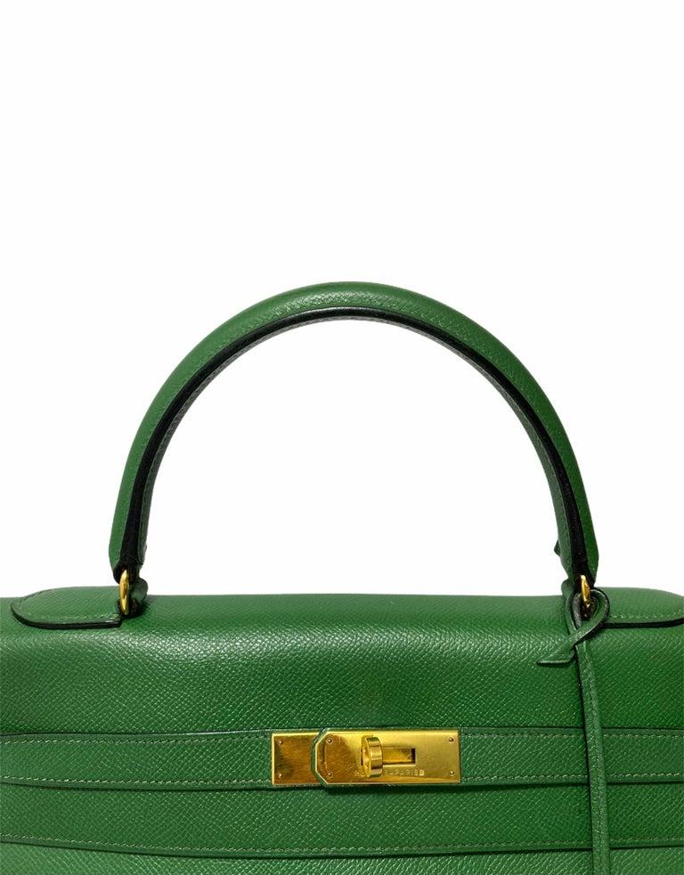 Hermès Green Epsom Kelly 35 Bag  For Sale 6
