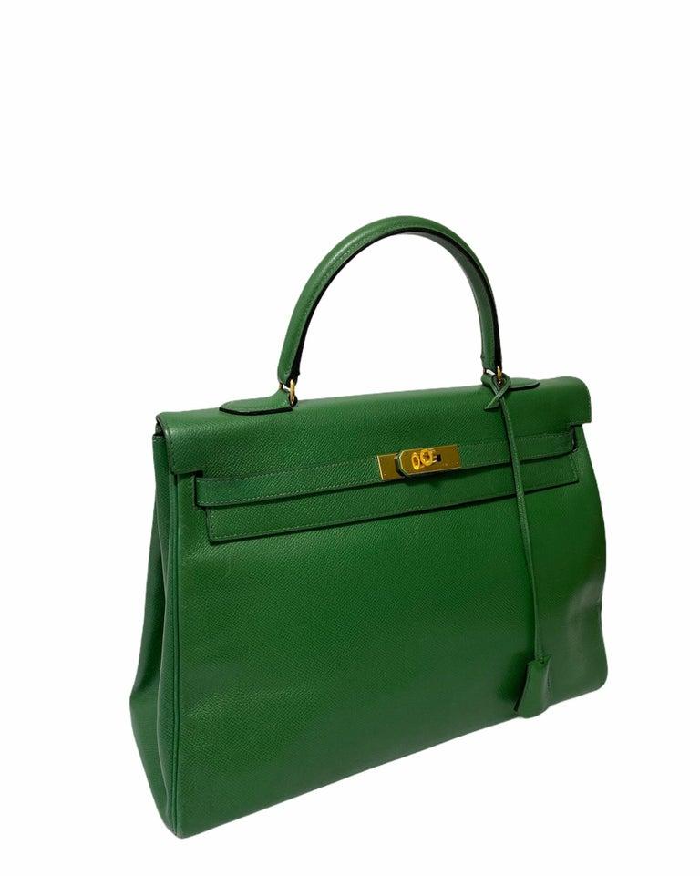 Hermès Green Epsom Kelly 35 Bag  For Sale 7