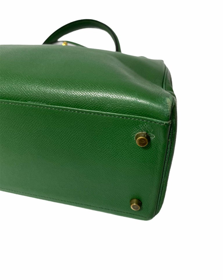 Hermès Green Epsom Kelly 35 Bag  In Good Condition For Sale In Torre Del Greco, IT