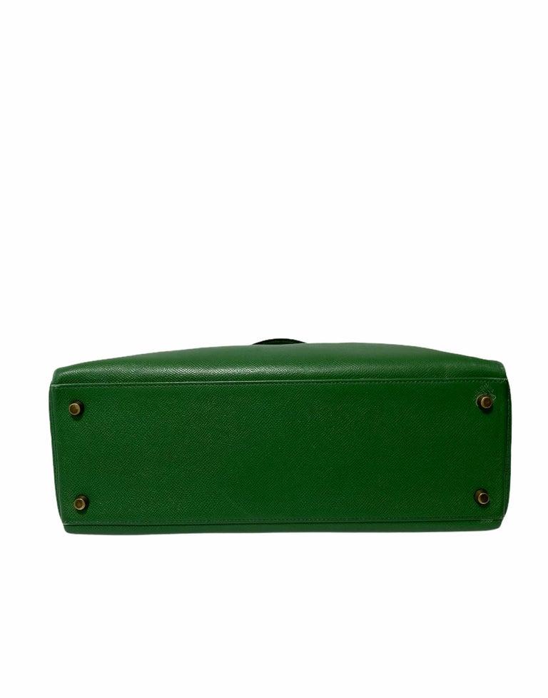 Hermès Green Epsom Kelly 35 Bag  For Sale 1