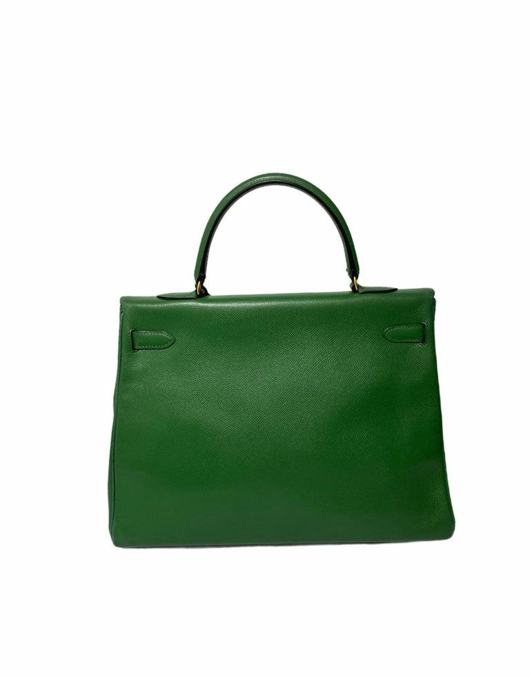 Hermès Green Epsom Kelly 35 Bag  For Sale 2