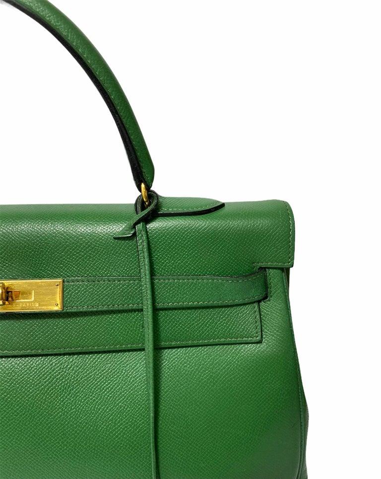 Hermès Green Epsom Kelly 35 Bag  For Sale 4