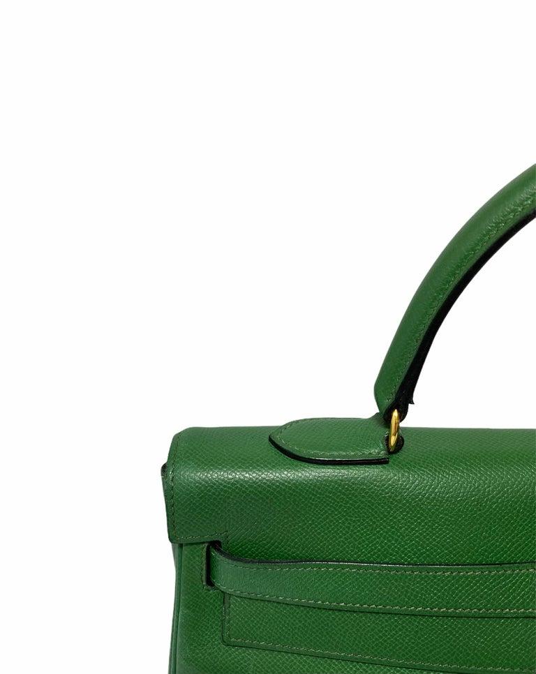 Hermès Green Epsom Kelly 35 Bag  For Sale 5