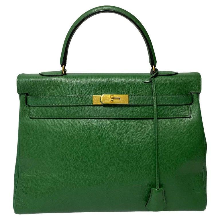 Hermès Green Epsom Kelly 35 Bag  For Sale