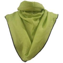 Hermes green fluo scarf - foulard