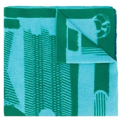 Hermès Green Les Sangles Maxi Square blanket