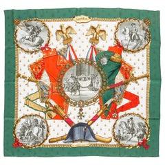 Hermès Green Napoleon Silk Scarf