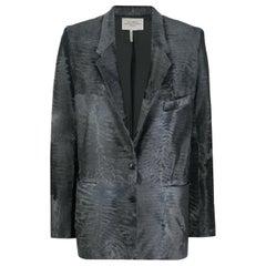Hermès Grey Lambskin Blazer