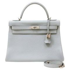 Hermès Grey Pearl Togo 32 cm Kelly Bag
