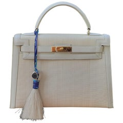 Hermès Grigri Bag Charm Horse Hair Crinoline and Silk Rare