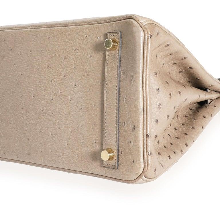 Hermès Gris Tourterelle Ostrich Birkin 30 GHW For Sale 4