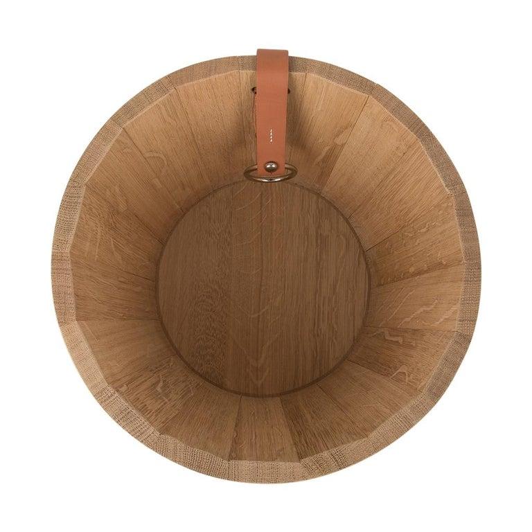 Hermes Groom Stable Bucket Oak Wood Leather Handle New For Sale 6