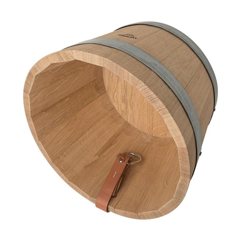 Hermes Groom Stable Bucket Oak Wood Leather Handle New For Sale 2
