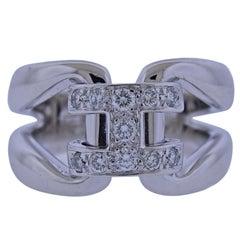 Hermes H Diamond Gold Ring