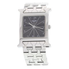 "Hermes ""H"" Hour Stainless Steel Watch HH1.510"
