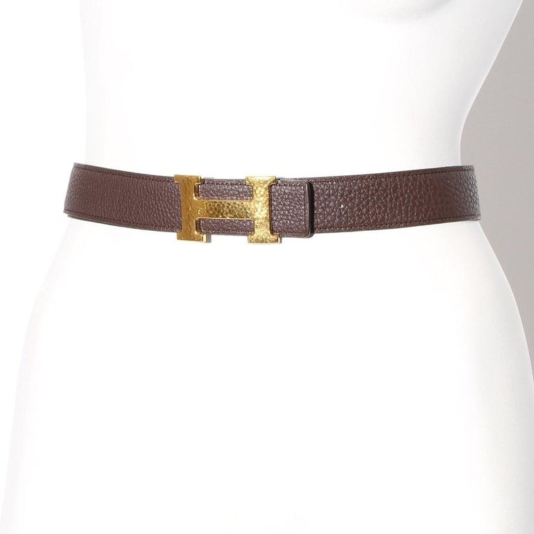 Women's or Men's Hermès H Reversible Belt Circa 2011