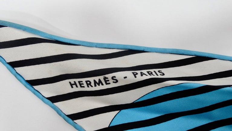 Women's or Men's Hermes H20 Blue Pointu Scarf Cap For Sale