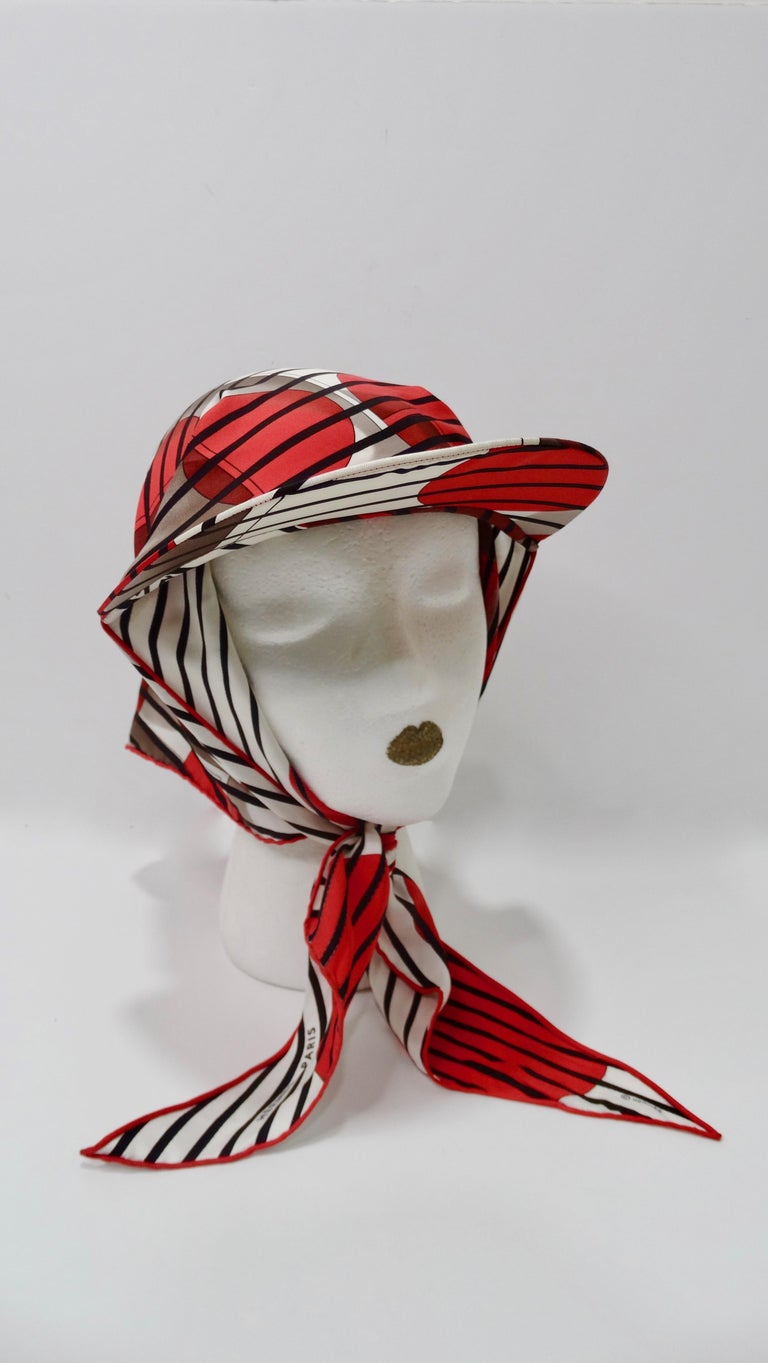 Hermes H20 Red Pointu Scarf Cap In Good Condition In Scottsdale, AZ
