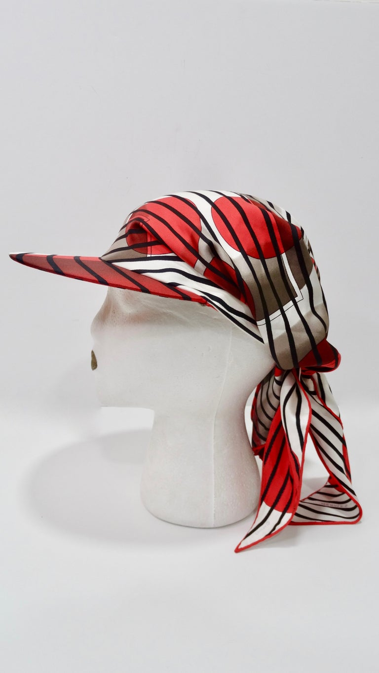 Women's or Men's Hermes H20 Red Pointu Scarf Cap