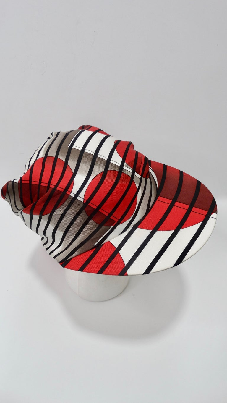 Hermes H20 Red Pointu Scarf Cap 1